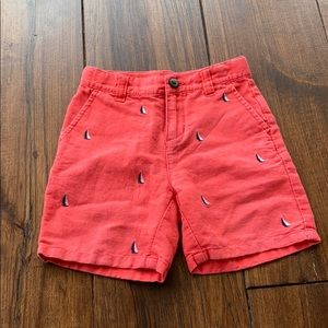 Janie and Jack Boat Linen Shorts